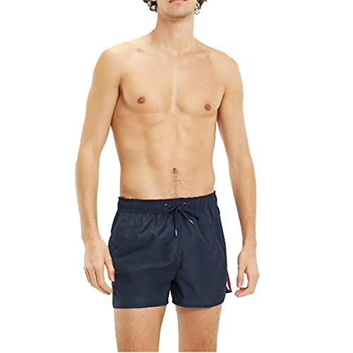 Tommy Hilfiger Hombre Shorts de baño de Corredor, Azul, M