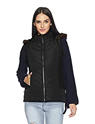 Fort Collins Womens Quilted Jacket (17930 AZ_Black_Medium)
