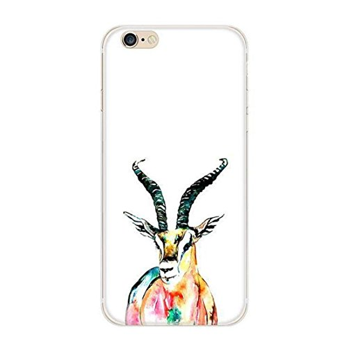 Pacyer® iPhone 5 5S SE Custodia Wild Animals TPU Case Gel Silicone Protettivo Skin Shell Case Cover Per Apple iPhone 5 5S SE Antelope