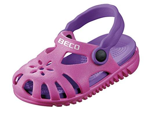 Beco Unisex-Kinder Sandale Slingback, Pink (Pink 4), 23 EU