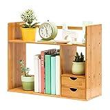Zfggd Bücherregal Creative Tisch Desktop Regale Einfache Bambus Regale Kleine Büro Lagerregal