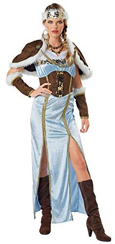 Sexy Kostüm Ice Queen - Seasons Jahreszeiten Wikinger Prinzessin Kostüm, Multicolor