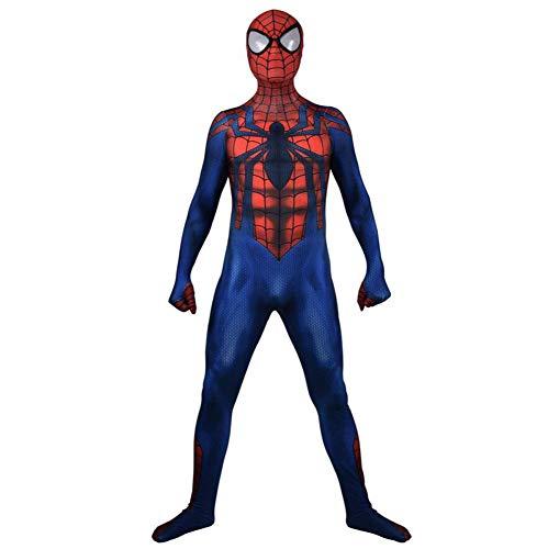 Full Spiderman Kostüm Body - KOUYNHK Neue Muscle Shade Amazing Spider Man Kostüm Für Halloween Fullbody Spider Man Cosplay Kostüm,Child-M