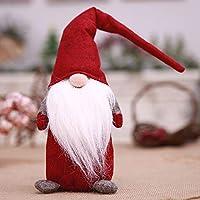 TAOtTAO Handmade Santa Cloth Doll Birthday Present For Home Christmas Holiday Decoration (Red 42x13cm)