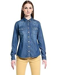 MELTIN'POT Camisa Mujer Calixta Azul Denim M