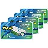 Flash Speedmop Wet Cloth Refills, Floor Cleaner, Lemon, 96 Count (24 x 4)
