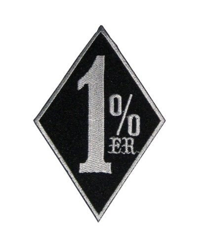 1%er Patch Sticker Logo Applique Insigne à coudre Rocker Biker Écusson brodé Ecussons Imprimés