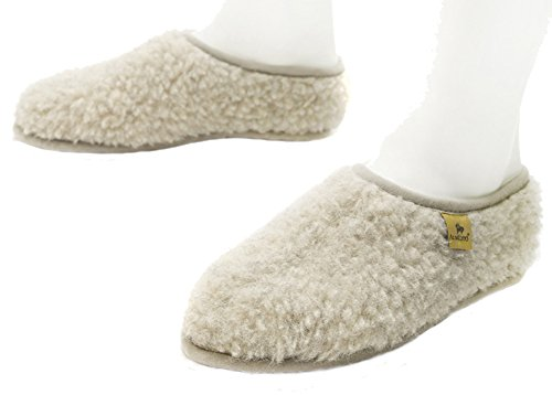 Alwero Cloudlet House-Pantofole da donna in lana Grigio (Grigio)