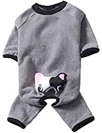 283f466545 BT Bear Pet Maglioni French Bulldog Pigiama Tuta Pet Morbido Pile Caldo Dog  Pullover Autunno Inverno Cane Vestiti per Cani di Media Pug…