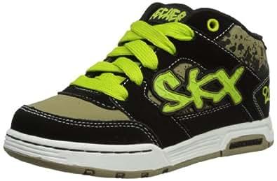 Skechers Endorse Morlex, Boys' Low-Top Sneakers, Schwarz (BKLM), 12 UK