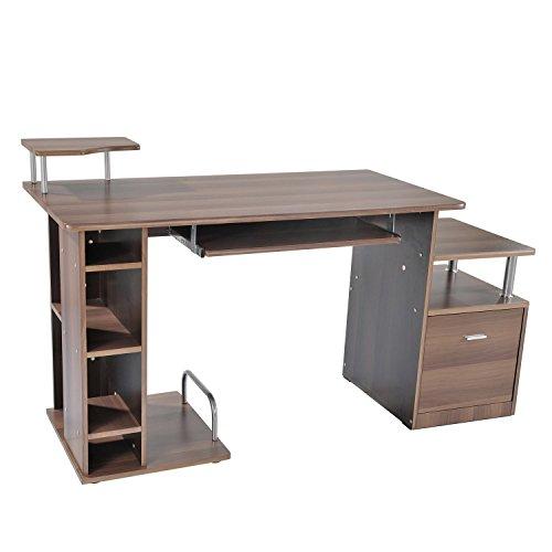 HOMCOM Computertisch Schreibtisch Bürotisch PC Tisch Arbeitstisch Kombitisch