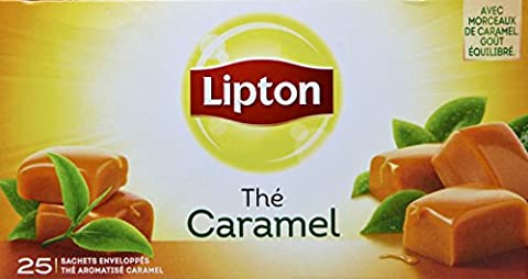 Lipton Thé Caramel 25 Sachets 40g - Lot de 3