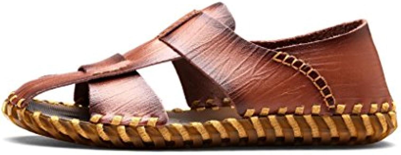 Herren Sandalen  Sport Baotou Outdoor Sandalen  Männer Sommer Casual Leder Strandschuhe  Wandern Anti Collision