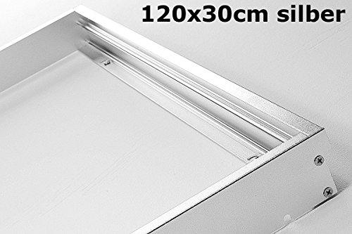 4-panel-gehäuse (LUMIXON LED Panel Rahmen 120x30x5cm - Panel Gehäuse Aufbaurahmen Aufputz-Rahmen Aluminium Eloxiert Matt (Silber) oder (Weiß))