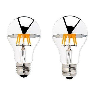 6W B22 E26/E27 Ampoules à Filament LED G60 6 COB 600 lm Blanc Chaud Gradable AC 100-240 AC 110-130 V 2 pièces (Angle de Rayonnement : 360°, Connecteur : E26/E27-Blanc chaud-110-120V-6W)