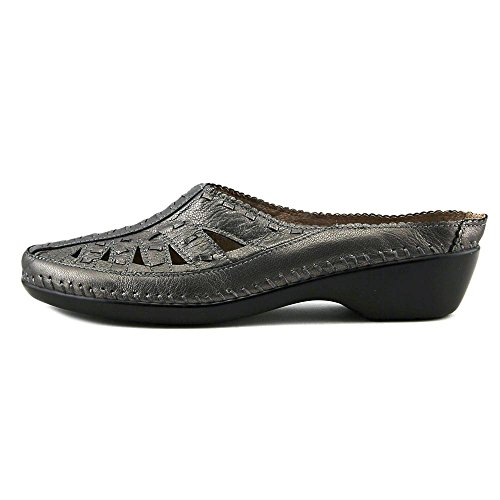 Easy Spirit Dolly Large Cuir Mules Pewter