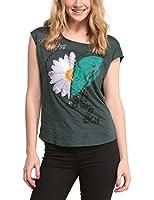 Desigual Desi - T-shirt - Col bateau - Sans manche - Femme