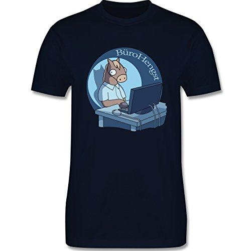 Statement Shirts - BüroHengst - Herren Premium T-Shirt Navy Blau
