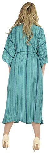 La Leela Ono la Leela Rayon Strand tragen Nacht Frauenkleid Kaftan langen Kaftan Kleid tragen Wirklich-Teal