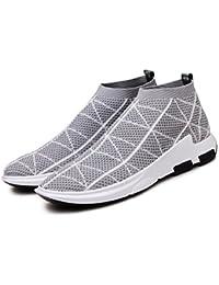 XIE Verano High Top Deportes Casual Shoes Tide Flying Weave Running Shoes Zapatos de Marea de