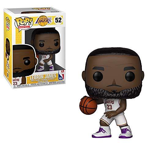 Funko 37271 POP! Vinylfigur: NBA: Lakers: Lebron James, weißes Trikot (Uniformes De La Nba)