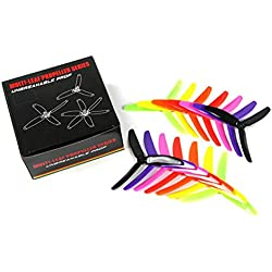Tellaboull For 7 Pares Kingkong/LDARC 5X4X3 5040 5 Pulgadas 3-Blade Rainbow Colorful Hélice CW CCW para RC Drone FPV Racing Repuestos