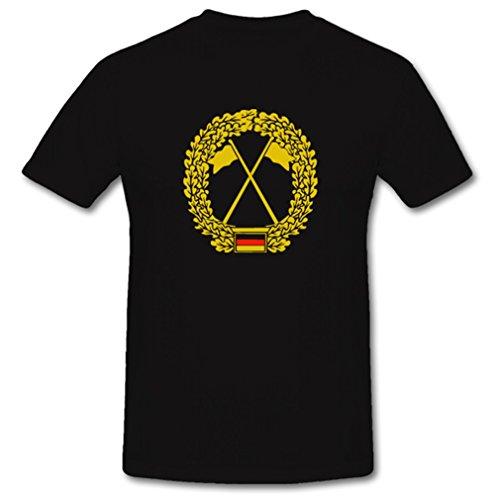 Heeresaufklärungstruppe BarettAbz Barettabzeichen Bundeswehr BW Deutschland Militär - T Shirt #621, Größe:4XL, Farbe:Schwarz