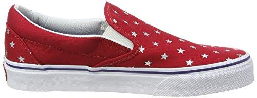 Vans U CLASSIC SLIP-ON Unisex-Erwachsene Sneakers Mehrfarbig ((Studded Stars) red/blue)