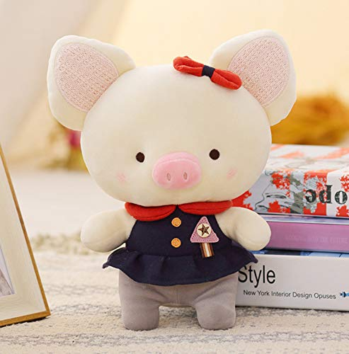 WYBL Plüsch Tiere weiche Stole Spielzeug für Mädchen Kinder Geschenk schwarz Schwein Gril 23cm