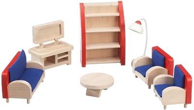 Beeboo 32303 - Sala de estar, muebles de casa de muñecas de beeboo