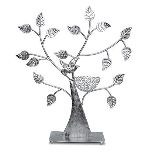 """Schmuckständer im """"Baum"""" Design - Silbern ca. 43 x 39 x 8 cm - Schmuckhalter Aufbewahrung und Präsentation - Grinscard"""