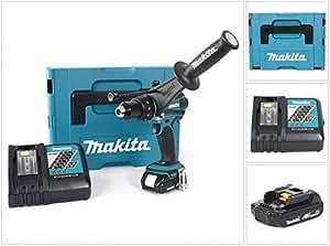 Makita dHP 458 y1J-d 18 v perceuse visseuse à percussion sans fil en coffret mAK-paC avec batterie bL1815 n-dC18RC-chargeur