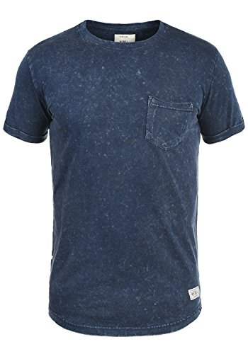 Redefined Rebel Myles Herren T-Shirt Kurzarm Shirt mit Rundhalsausschnitt Aus 100% Baumwolle, Größe:3XL, Farbe:Navy (Baseball-leichtes T-shirt)