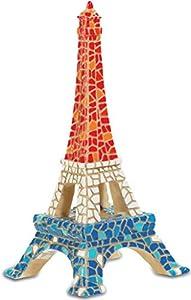 Katerina Prestige Figura de la Torre Eiffel con Mosaico, 13,5 cm