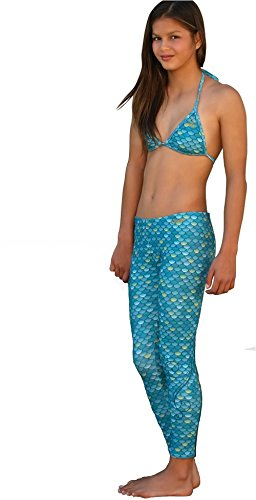 Mahina Mermaid, Mahina Swimwear, Aqua Merswim Set Age 12. Bikini & Leggings