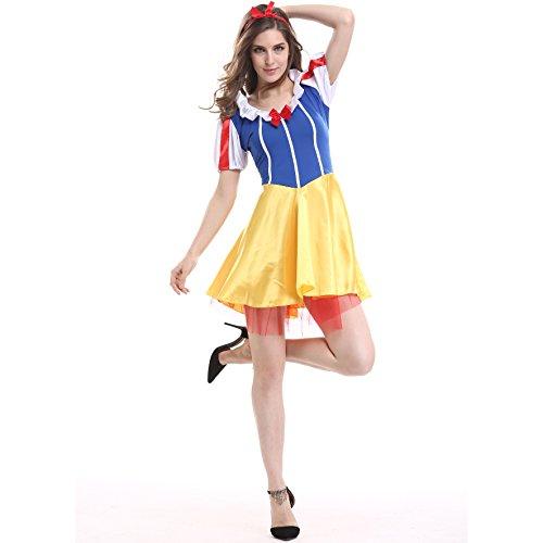 Kostüm Teenager Schneewittchen - XSH Spiel Uniform Cosplay Lady Halloween Kostüm Sexy Schneewittchen Rock,Gelb,M