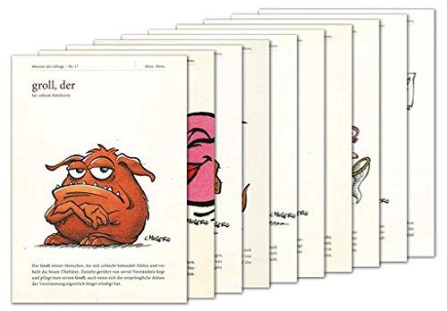 10er-Set: Postkarten A6 +++ MIX SET Nr. 1 von modern times +++ 10 lustige MONSTER DES ALLTAGS +++ © MOSER, Christian