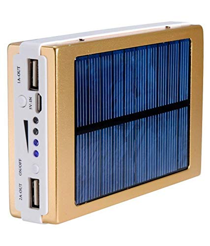 Plinton LED Power Financial institution-20000Mah with Solar Led Charging (Gold) Image 3