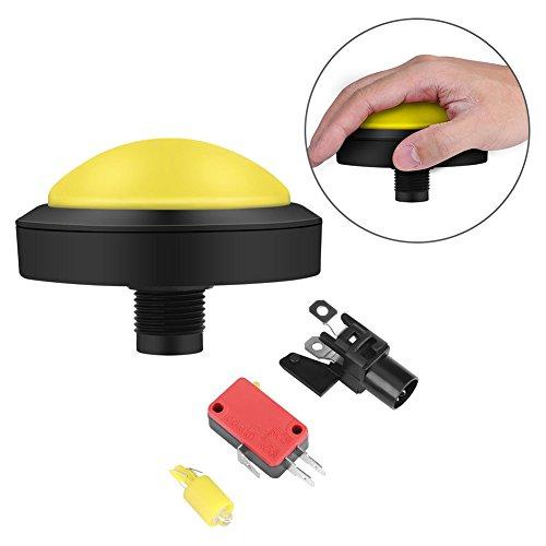 Jinxuny Massiver Bogenknopf 100 mm mit Ersatz für die Del Konvexitationskonsole gelb -
