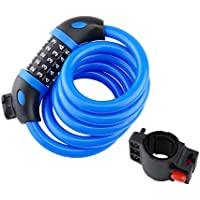 Cablematic Cable antirrobo de acero con candado para bicicleta 12x1200mm combinación