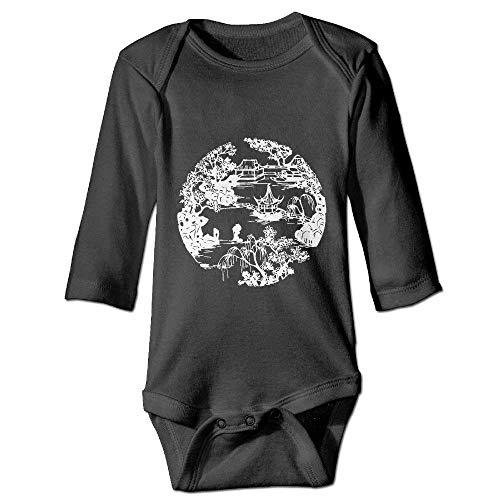 Monicago Neugeborenes Baby-Jungen-Mädchen-Bodysuit-Lange Hülse, Courtyard Baby Funny Rompers Long-Sleeve Bodysuits Girls Boys