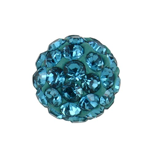 Studex Sensitive Regular 6 mm Blue Zircon Kristall Feuerball Ohrstecker Edelstahl Ohrringe (Tiffany Blau Ohrstecker)