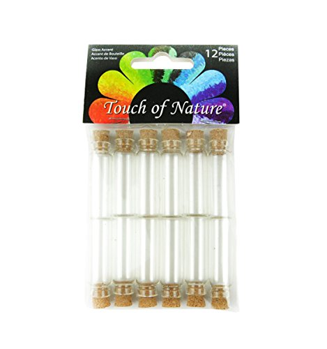 Midwest Design Mini Glass Vials W/Corks 12/pkg-1.5\