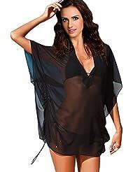 Ninimour Europäische und amerikanische Mode heißen Bohren Strandkleid,Kleid Urlaub,Beachwear (petite, 1-FQ4001)