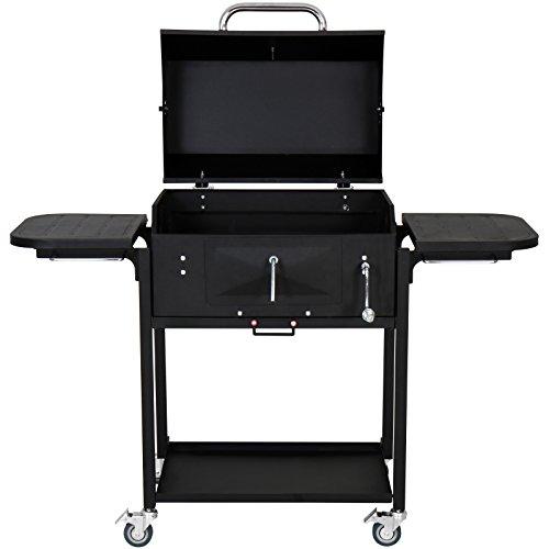 Broilmaster Grillwagen, BBQ Grillwagen mit Feuerbox, schwarz, 113 x 104 x 59 cm, BBQS09