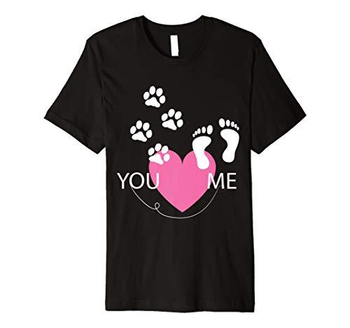 Hunde Liebhaber Pfote Fußabdruck Tshirt für Sie mit Hund -