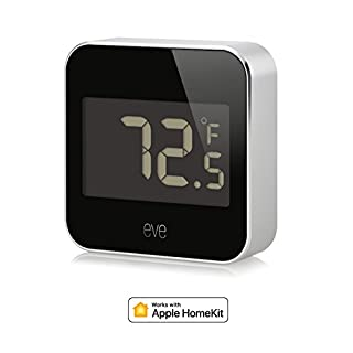Elgato Eve Grad, Temperatur und Luftfeuchtigkeit Monitor mit Apple homekit Technologie, Bluetooth Low Energy