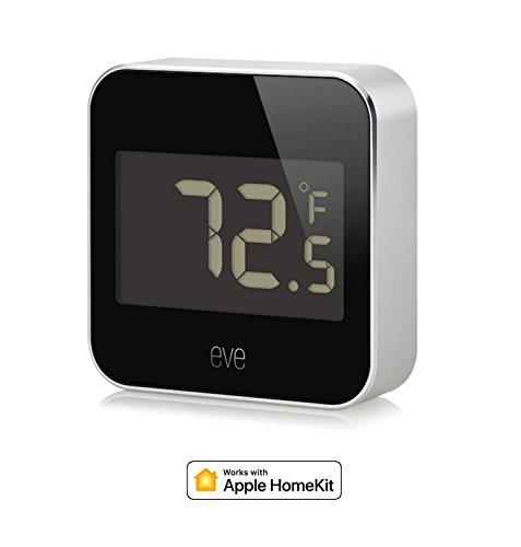 Elgato Eve Grad, Temperatur und Luftfeuchtigkeit Monitor mit Apple homekit Technologie, Bluetooth Low Energy