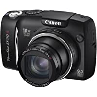 Canon PowerShot SX110 IS Digital Camera - Black (9.0MP, 10x Optical Zoom) 3.0 inch LCD