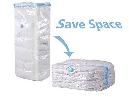 homeideas 4Stück Cube Premium Vakuumbeutel Space Saver Taschen, funktioniert mit jedem Staubsauger + Doppel-Reißverschluss Dichtung, Ihr Zuhause oder unterwegs Aufbewahrung jetzt. - Extra large size: 35 *27 *15